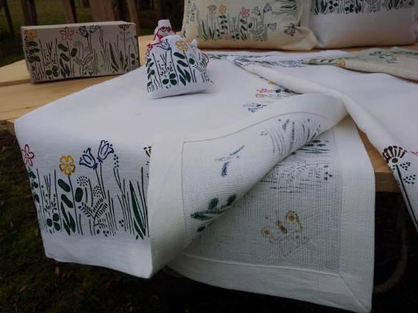Blumenwiese Detailsicht der Verarbeitung